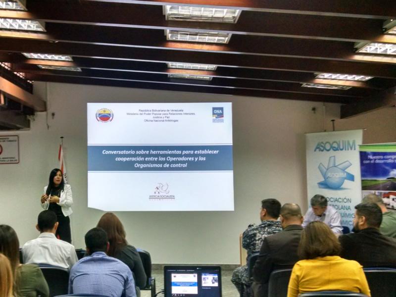 Conversatorio: Herramientas para establecer la cooperación entre los Operadores y los Organismos de Control. Dayana Barrios, representante de la ONA explicó las herramientas para establecer la cooperación entre los Operadores y los Organismos de Control.